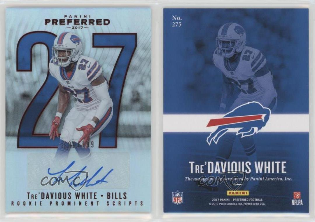 2017 Panini Preferred Red 275 Rookie Prominent Scripts Tre Davious