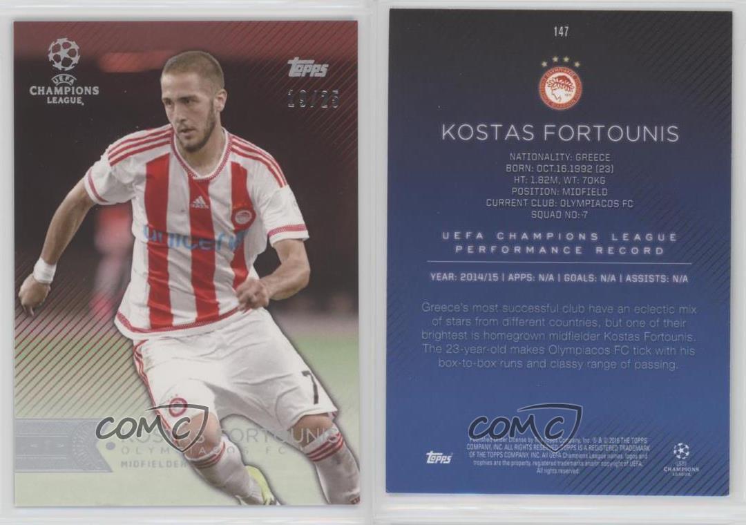 2015-16 Topps UEFA Champions League Showcase #147 Kostas Fortounis Olympiacos FC