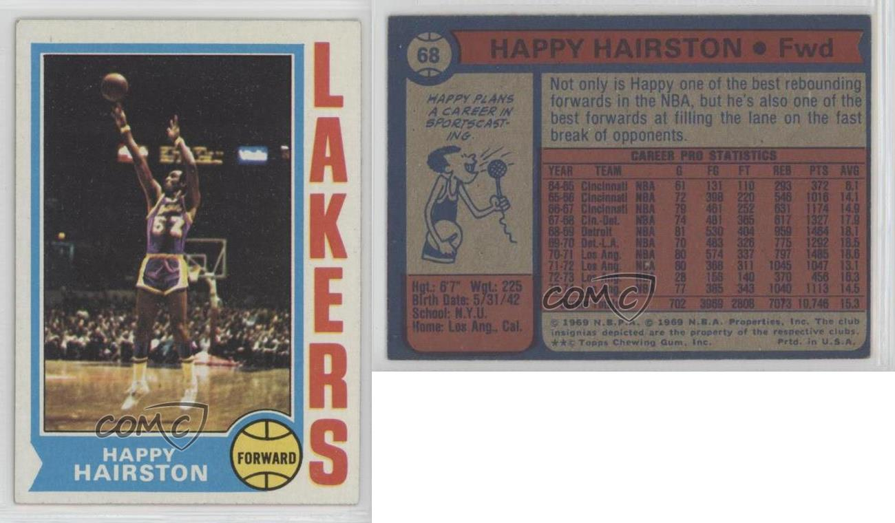 1974 75 Topps 68 Happy Hairston Los Angeles Lakers Basketball