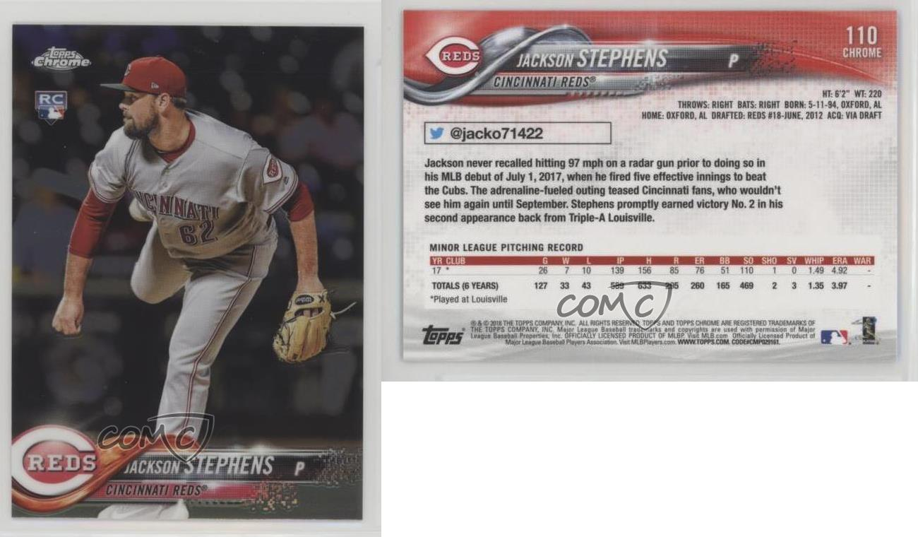 2018-Topps-Chrome-110-Jackson-Stephens-Cincinnati-Reds-RC-Rookie-Baseball-Card