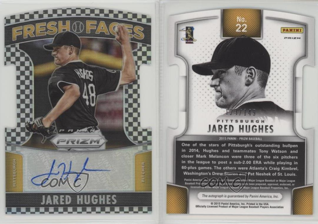 2015 Panini Prizm 22 Jared Hughes Pittsburgh Pirates Auto Baseball