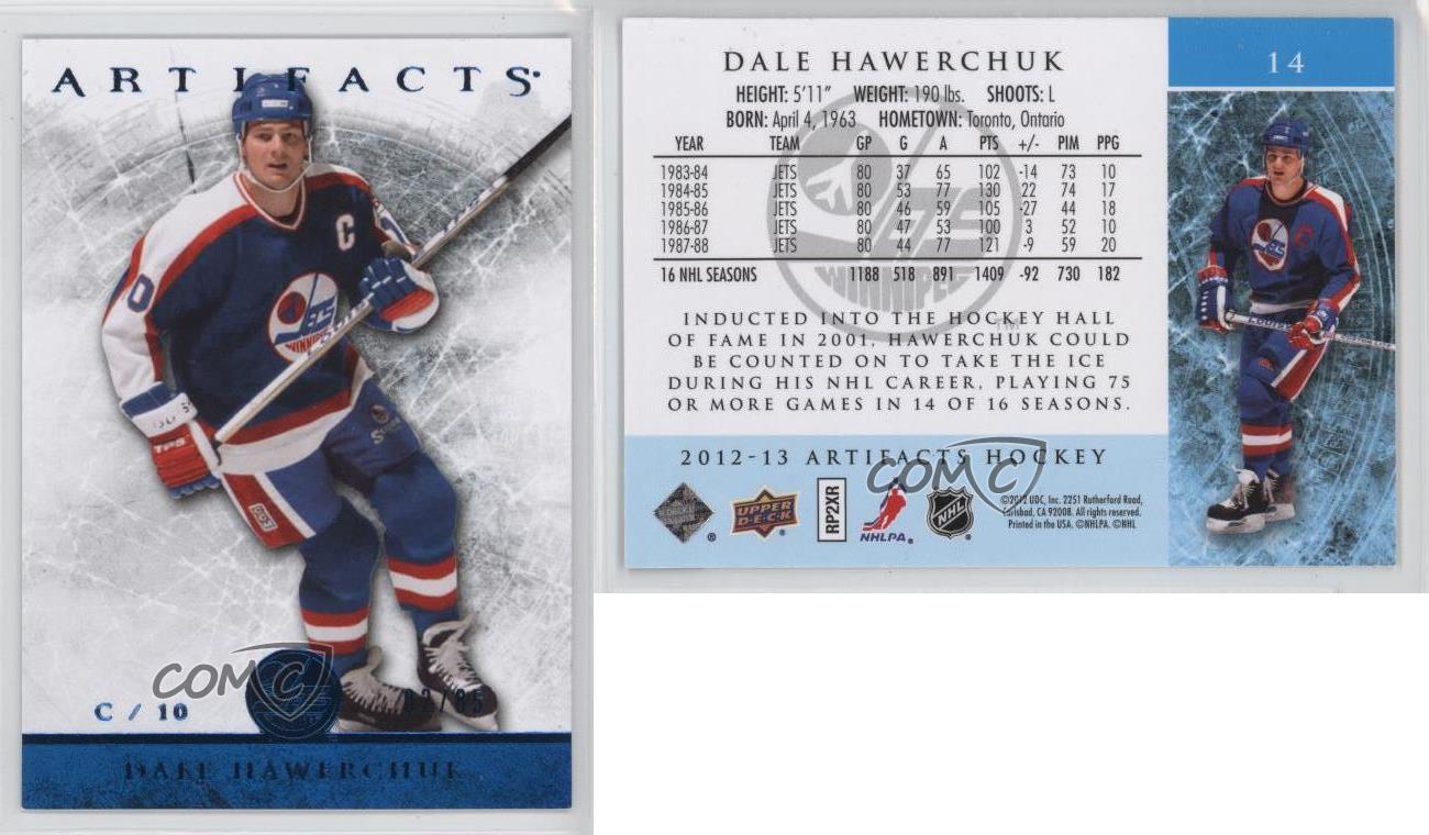 2012-13-Upper-Deck-Artifacts-Blue-14-Dale-Hawerchuk-Winnipeg-Jets-Hockey-Card