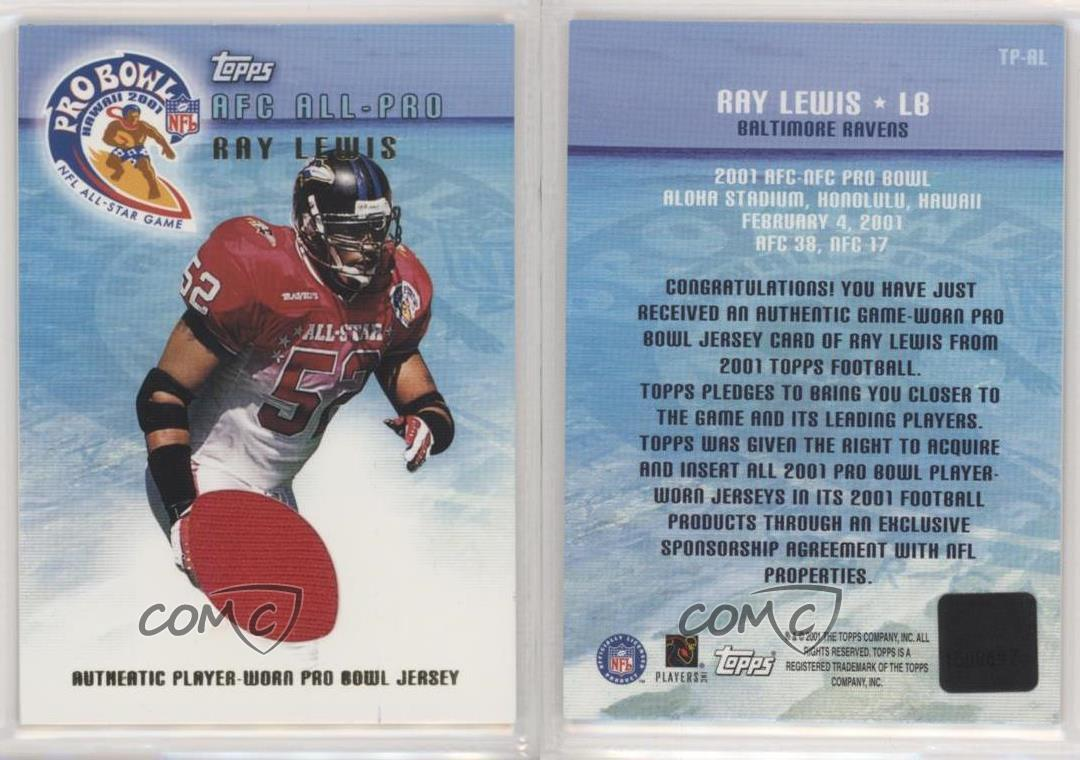 2001 Topps Pro Bowl Jerseys Ray Lewis #TP-RL HOF   eBay