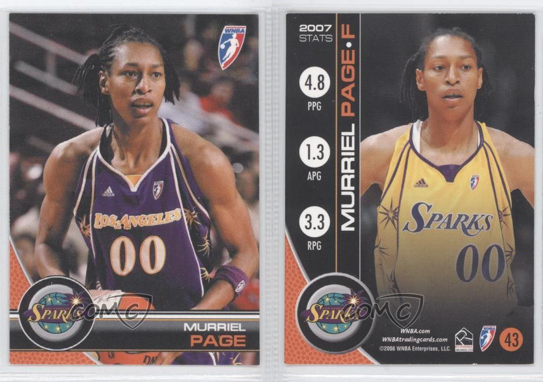 2007 WNBA #79 Murriel Page WNBA Basketball Trading Card