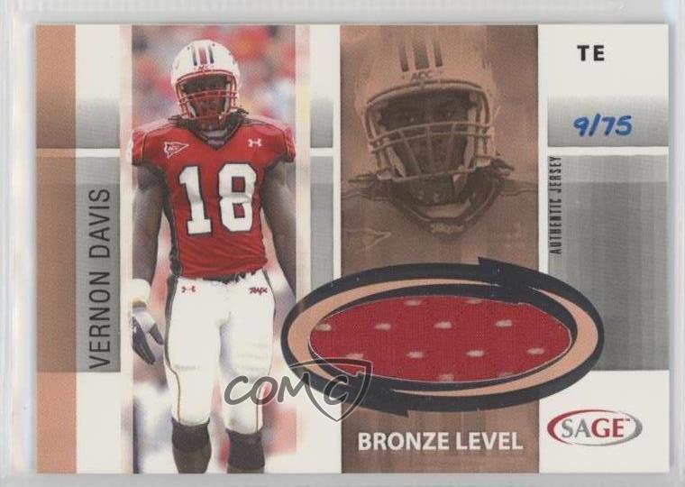 various colors 7d1f5 9a4d4 Details about 2006 SAGE Jersey Bronze/75 #J7 Vernon Davis Maryland  Terrapins Rookie Card