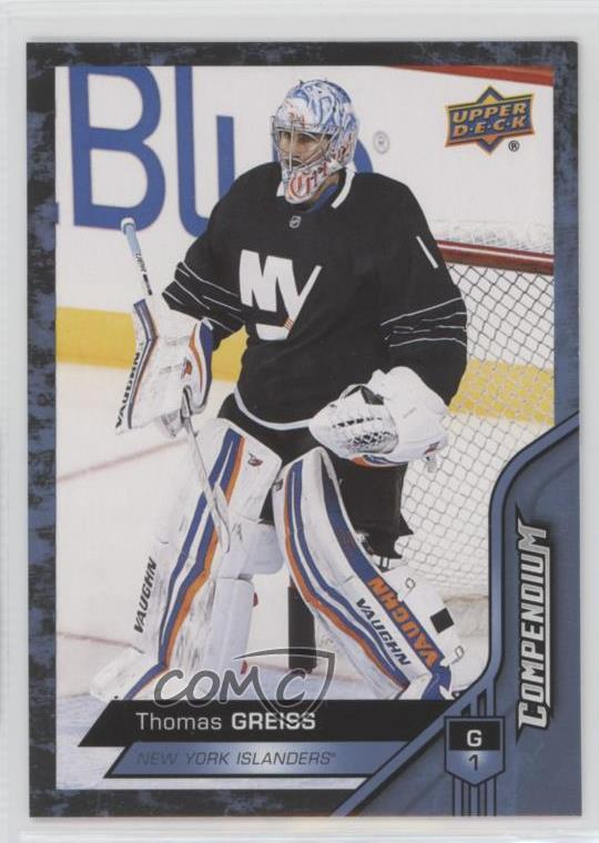 low priced 6185f 774de Details about 2016-17 Upper Deck Compendium Blue #463 Thomas Greiss New  York Islanders Card