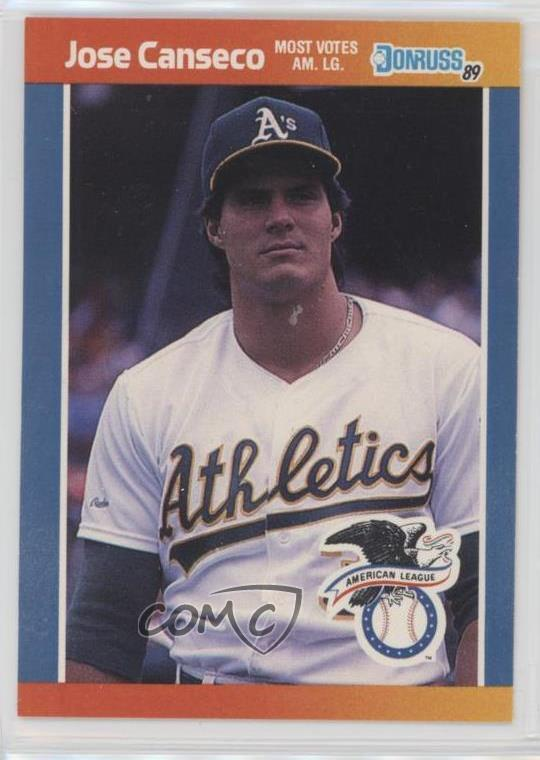 Details About 1989 Donruss All Stars 30 Jose Canseco Oakland Athletics Baseball Card