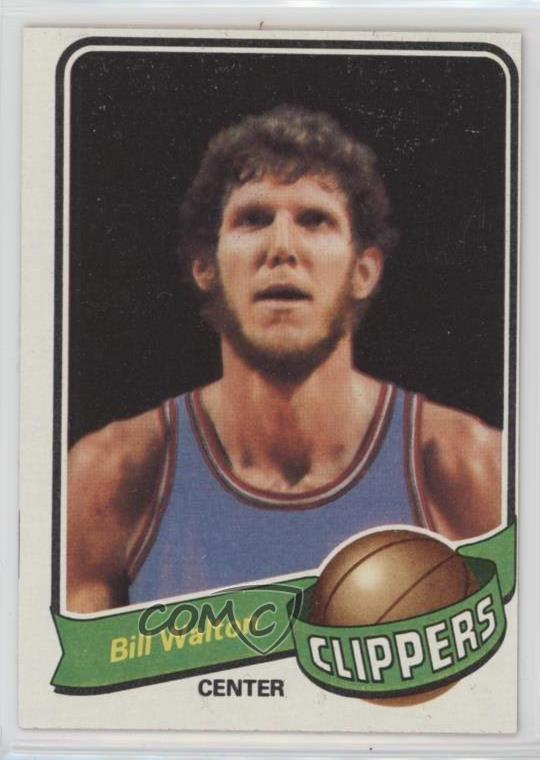Verzamelingen Basketbal 1979-80 Topps #45 Bill Walton San Diego Clippers Los Angeles Basketball Card