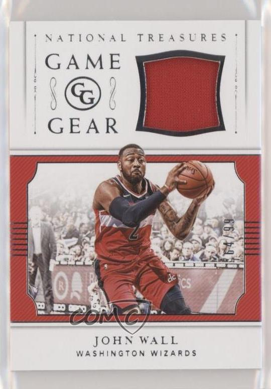 separation shoes 20750 acfc1 Details about 2018 Panini National Treasures Game Gear/99 #GGR-JW John Wall  Washington Wizards