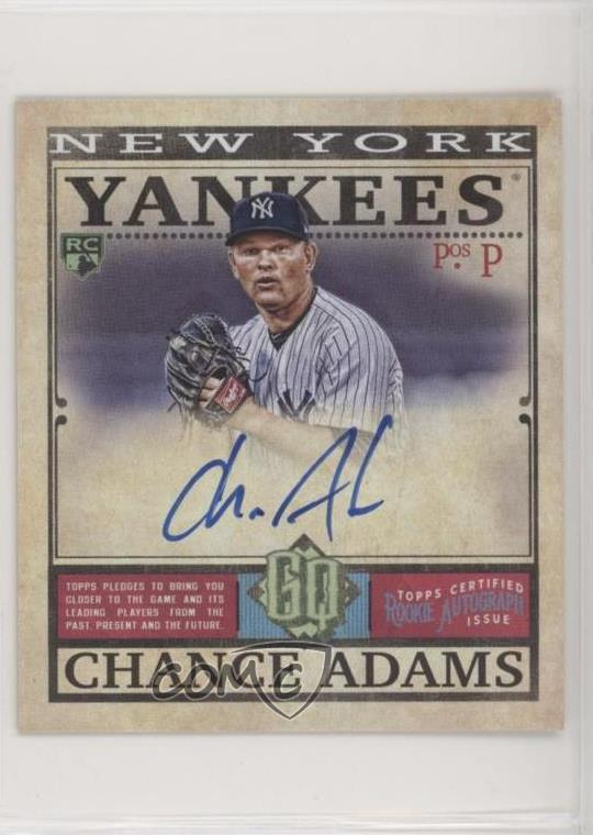 Details About 2019 Topps Gypsy Queen Mini Rookie Autographs99 Mra Ca Chance Adams Auto Card