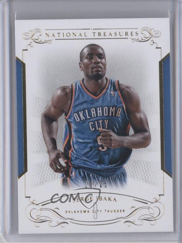 56eacbd55 2013-14 Panini National Treasures -  Base  - Gold  16 Serge Ibaka.  Representative Image - Select Specific Item above to see image of actual  item
