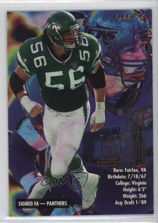 Details about 1995 Fleer #293 Jeff Lageman New York Jets Football Card