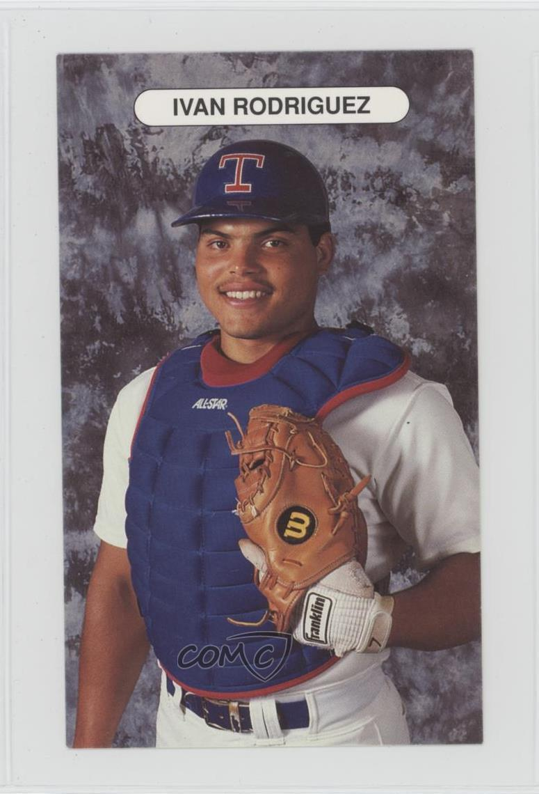 Details About 1992 Texas Rangers Team Issue Ivan Rodriguez Baseball Card