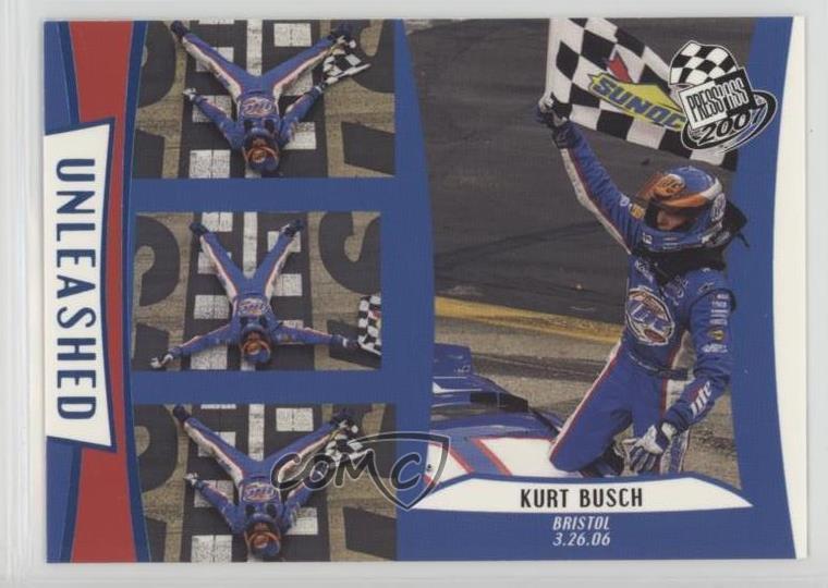 Sports Trading Cards 2006 Press Pass Blue #b29 Kurt Busch Racing Card Auto Racing Cards