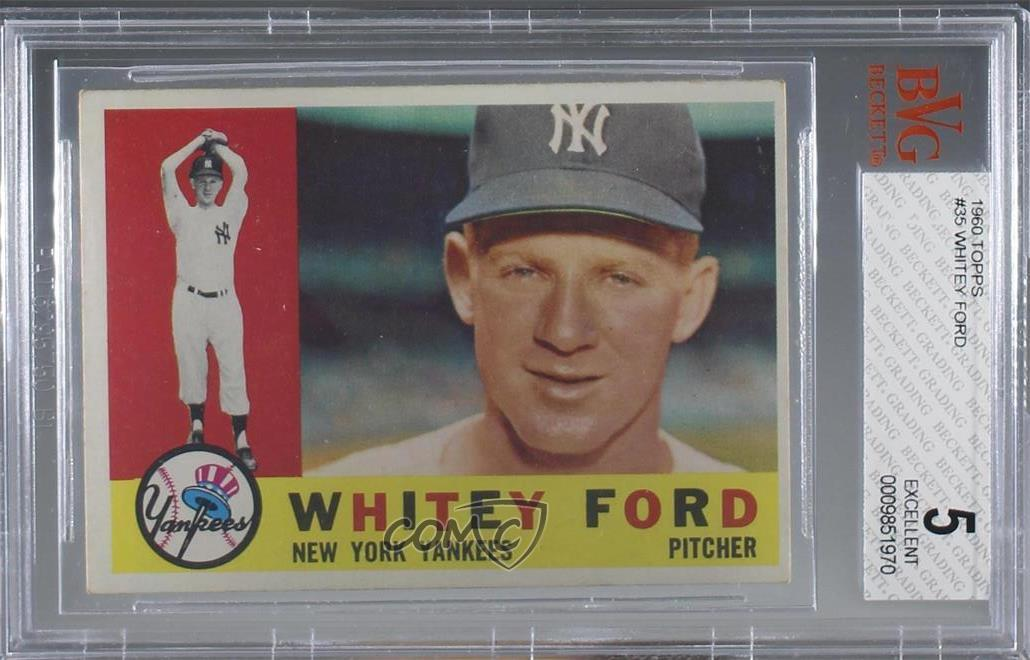 Details About 1960 Topps 35 Whitey Ford Bvg 5 Excellent New York Yankees Baseball Card
