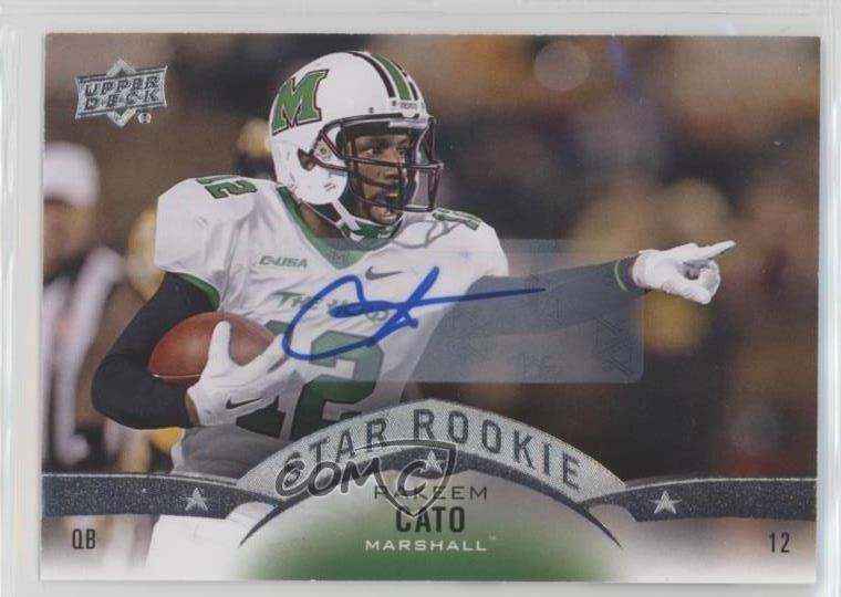 2015 Upper Deck Rookies Autographs Autographed 72 Rakeem Cato Auto Football Card Verzamelkaarten: sport Verzamelingen