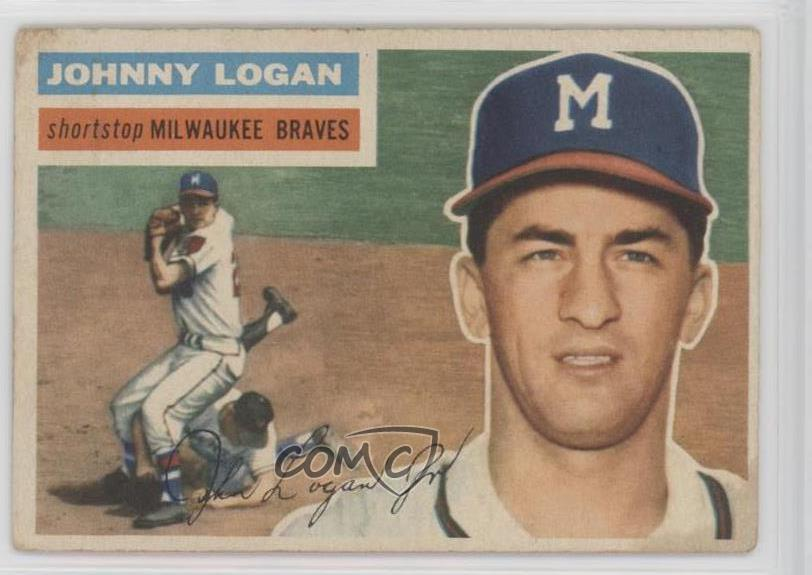 Details About 1956 Topps 1361 Johnny Logan Gray Back Milwaukee Braves Baseball Card