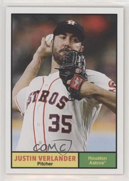 1dd7755cb73  188 1961 Topps Design - Justin Verlander. Representative Image - Select  Specific Item above to see image of actual item