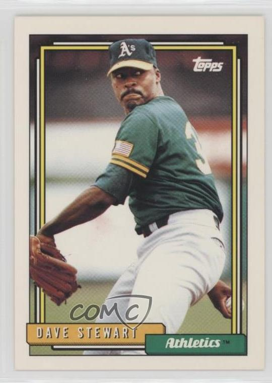 Details About 1992 Topps 410 Dave Stewart Oakland Athletics Baseball Card
