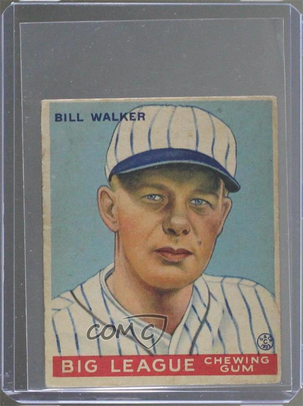 1933 Goudey Big League Chewing Gum R319 94 Bill Walker St Louis Cardinals Rc