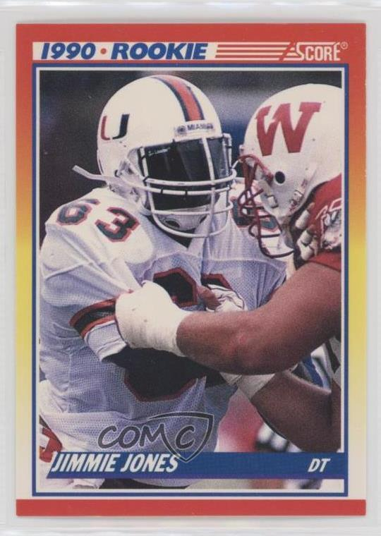Details About 1990 Score 623 Jimmie Jones Miami Hurricanes Rc Rookie Football Card