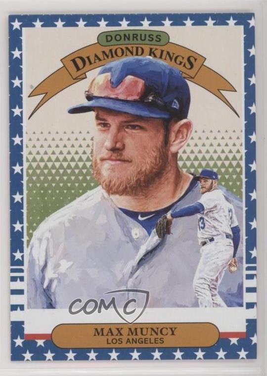 Details About 2019 Panini Donruss Independence Day 26 Max Muncy Diamond Kings Baseball Card