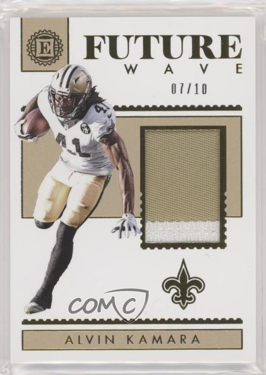 Details about 2018 Panini Encased Future Wave Materials Gold/10 #FW-1 Alvin  Kamara Card