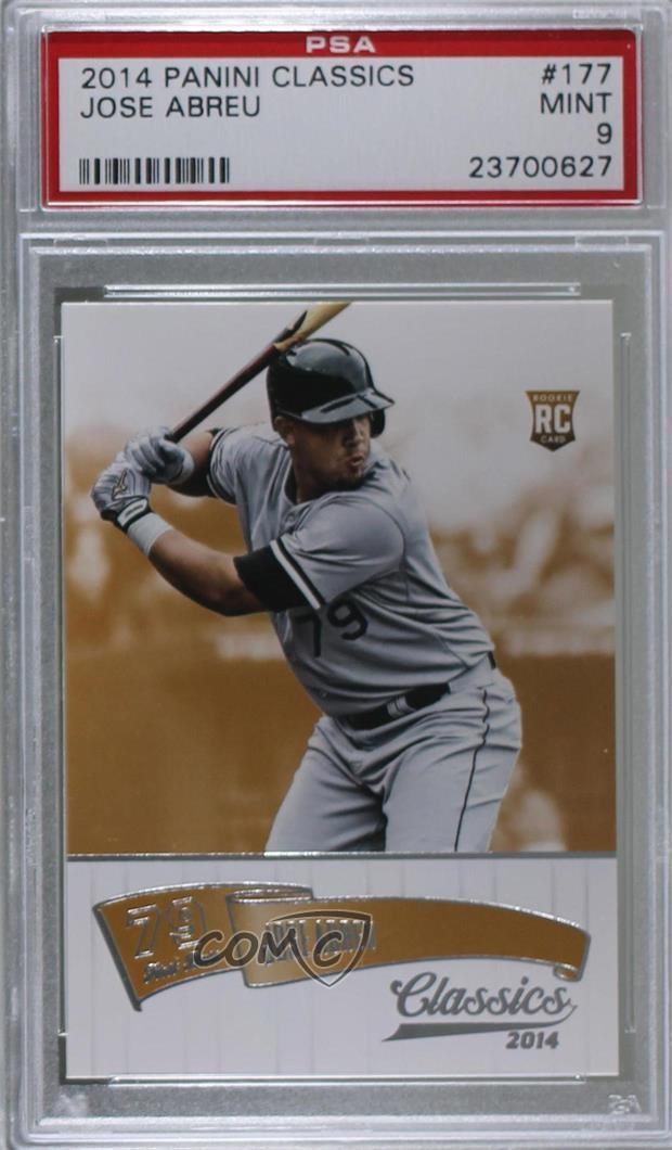 Details About 2014 Panini Classics 177 Jose Abreu Psa 9 Mint Chicago White Sox Rookie Card