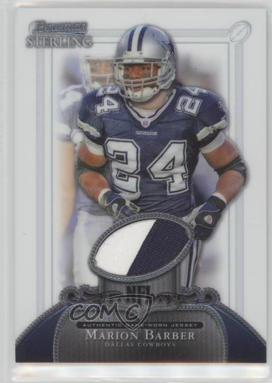 Details about 2006 Bowman Sterling Base Relics #BS-MB Marion Barber III  Dallas Cowboys Card