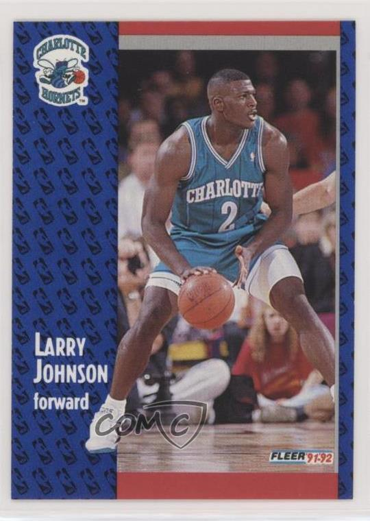 Details About 1991 92 Fleer 255 Larry Johnson Charlotte Hornets Rc Rookie Basketball Card