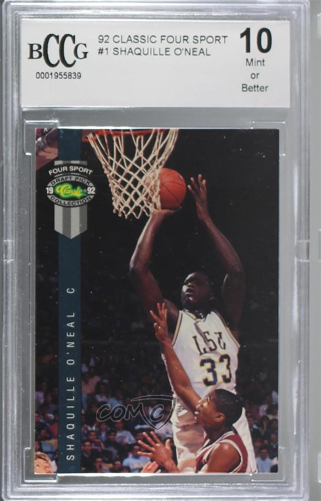 Verzamelingen 1992 Classic Four Sport Draft Pick Collection Previews #1 Shaquille O'Neal Card Overig