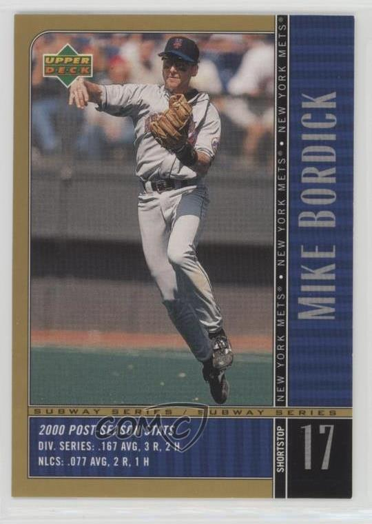 Details About 2000 Upper Deck Subway Series Ny21 Mike Bordick New York Mets Baseball Card
