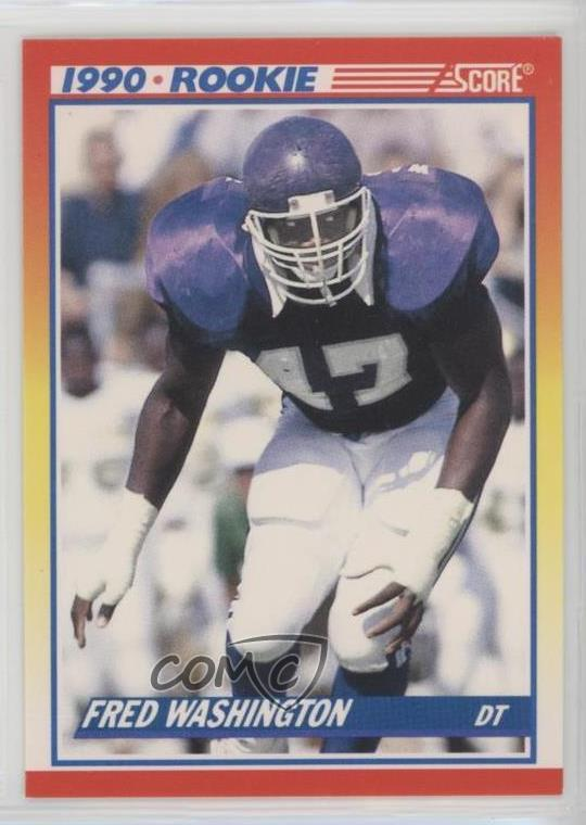 Details About 1990 Score 625 Fred Washington Chicago Bears Rc Rookie Football Card