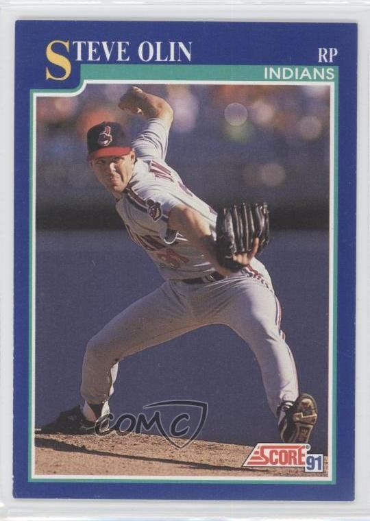 Details About 1991 Score 496 Steve Olin Cleveland Indians Baseball Card