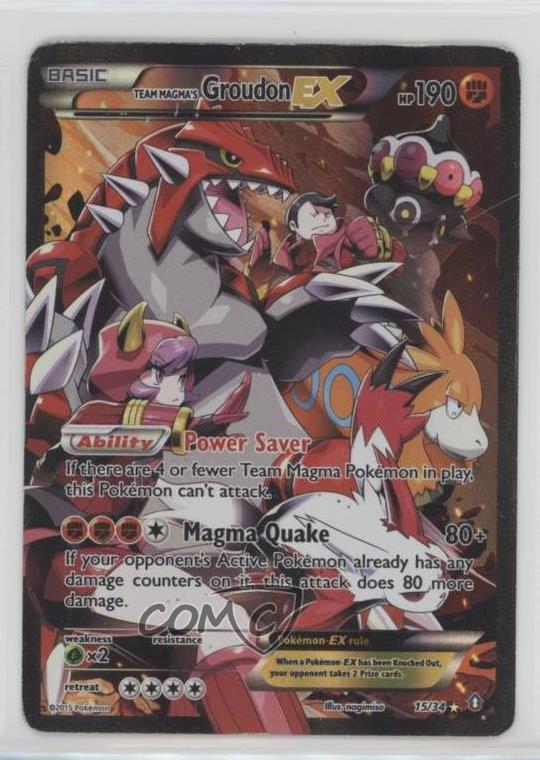 Details about 2015 Pokémon Double Crisis Subset #15 Team Magma's Groudon EX  READ Card 2f4