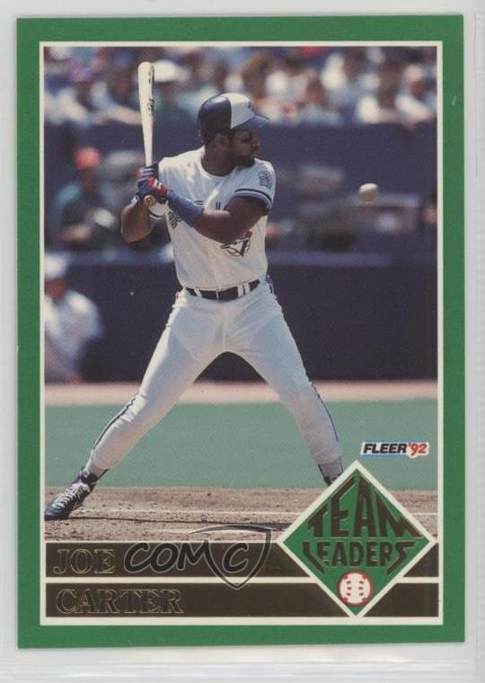 f7f5d498eb 1992 Fleer - Team Leaders #14 Joe Carter. Representative Image - Select  Specific Item above to see image of actual item