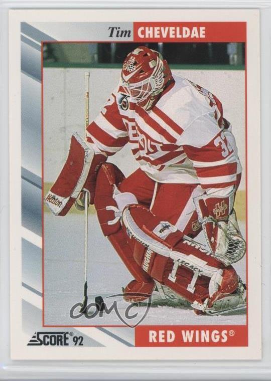 1992 93 Score 275 Tim Cheveldae Detroit Red Wings Hockey Card