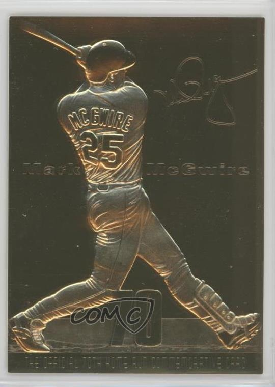 Details About 1998 Promint 22k Gold Home Run Commemoratives 70 Mark Mcgwire Baseball Card