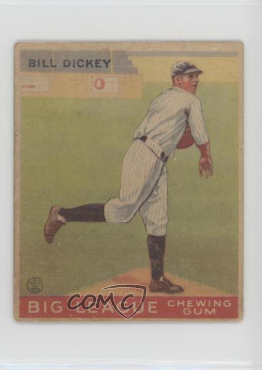 Details About 1933 Goudey Big League Chewing Gum R319 19 Bill Dickey New York Yankees Rc Card