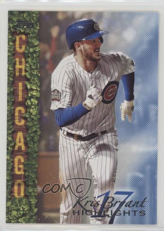 finest selection c34af f6464 Details about 2018 Topps Wal-Mart Highlights Blue #KB-5 Kris Bryant Chicago  Cubs Baseball Card