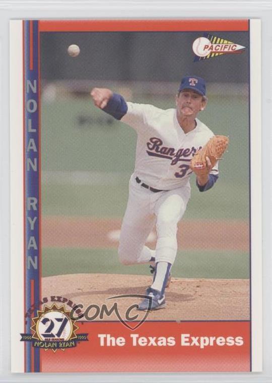Details About 1993 Pacific Texas Express 27 Seasons 249 Nolan Ryan Rangers Baseball Card