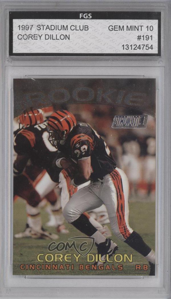 83ab507d Details about 1997 Stadium Club #191 Corey Dillon Other Encased Cincinnati  Bengals Rookie Card