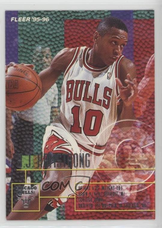 Details About 1995 96 Fleer 21 Bj Armstrong Chicago Bulls Basketball Card