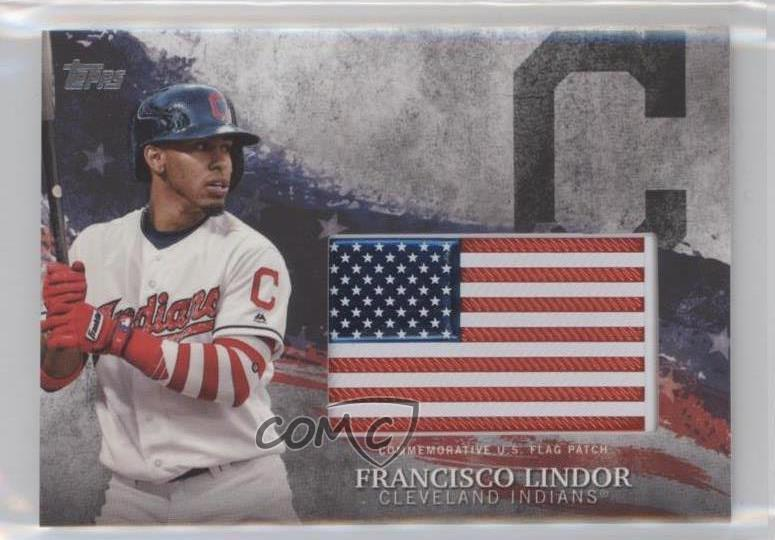 2018 Topps Mlb Independence Day Patches Idml Fl Francisco Lindor