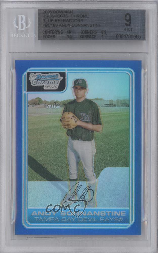 Andy Sonnanstine Tampa Bay 2006 Bowman Chrome Card