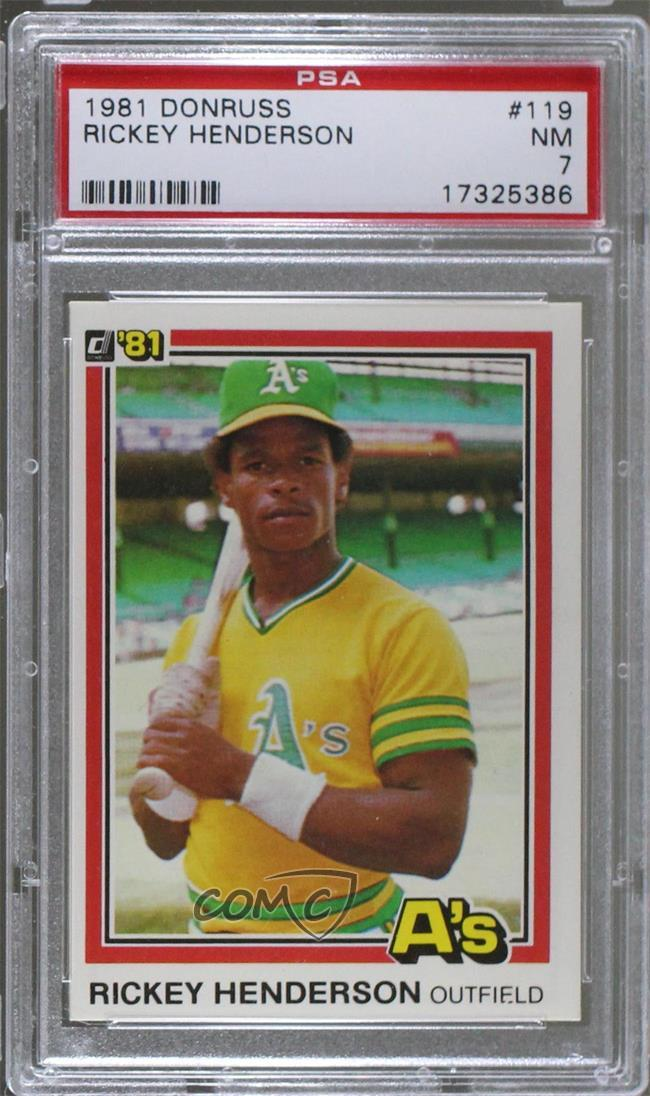 119 Rickey Henderson. Representative Image - Select Specific Item above to  see image of actual item d05a2b3e3