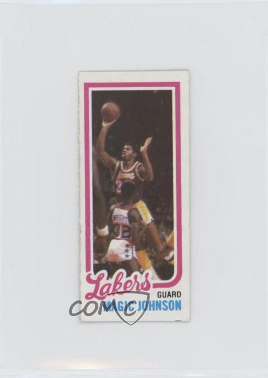 Details About 1980 81 Topps Separated 139 Magic Johnson Los Angeles Lakers Rookie Card