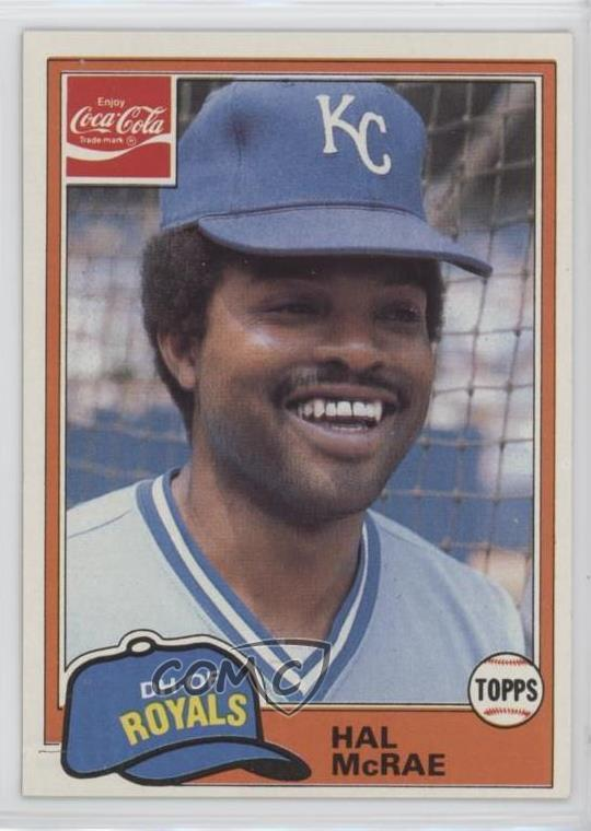 Details About 1981 Topps Coca Cola Team Sets Kansas City Royals 5 Hal Mcrae Baseball Card