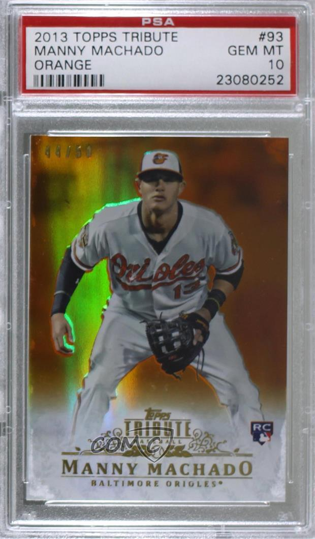 f40a728904c 2013 Topps Tribute -  Base  - Orange  93 Manny Machado. Representative  Image - Select Specific Item above to see image of actual item