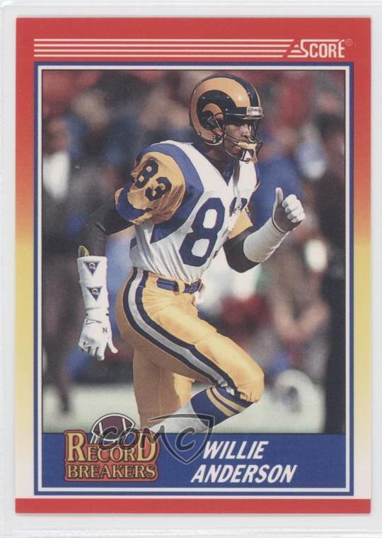 25df93f1 Details about 1990 Score #593 Willie Anderson Los Angeles Rams St. Louis  Football Card